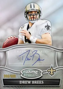 2010 Bowman Sterling Drew Brees Autograph Card