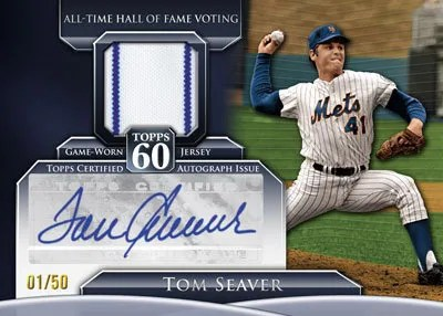 2011 Topps 60 Autograph Relic Tom Seaver