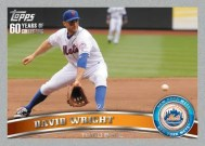 2011 Topps Series 1 Platinum David Wright Parallel Base Card