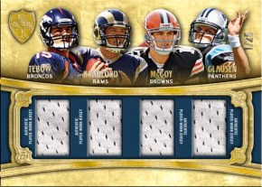 2010 Quad RC Jersey Relic Tebow Bradford McCoy Clausen