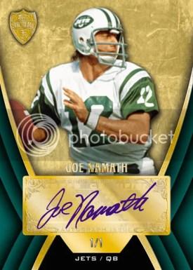2010 Topps Supreme Joe Namath Autograph Green Parallel #1/1