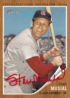 2011 Topps Heritage Stan Musial Real One Autograph Card