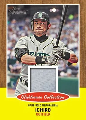 2011 Topps Heritage Ichiro Clubhouse Collection Jersey Relic Card