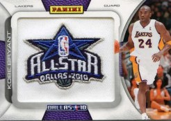 09/10 Panini Season Update Kobe Bryant All Star Patch Card