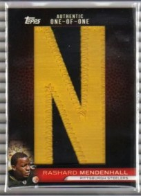 2010 Topps Rashard Mendenhall In The Name Letter Patch