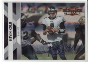 2010 Panini Threads Kevin Kolb Silver Parallel Autograph
