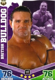 2010 Topps Slam Attax Mayhem WWE Legends British Bulldog