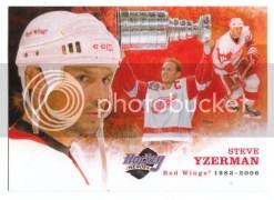 2010/11 Upper Deck Steve Yzerman Heroes Art Card