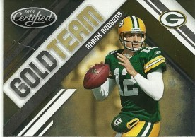 2010 Panini Certified Aaron Rodgers Gold Team