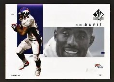 2001 Terrell Davis Sp Authentic
