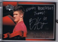 2010 Bowman Sterling Bryce Harper 60th Autograph Happy Birthday