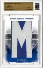2010 Famous  Fabrics Eli Manning Nameplate