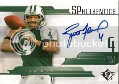 Brett Favre Jets Autograph