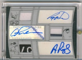 2010 Triple Threads Auto Patch Pujols Howard Rodriguez 1/1
