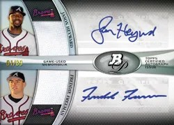 2011 Bowman Platinum Jason Heyward/Freddie Freeman