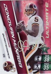 2010 Panini Adrenalyn Football Donovan McNabb Ultimate Code Card