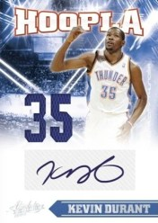 2010-11 Panini Absolute Memorabilia Hoopla Kevin Durant Autograph Jersey Card