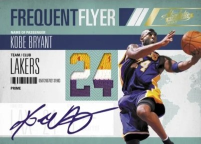 2010/11 Panini Absolute Memorabilia Frequent Flyer Kobe Bryant Jersey Autograph Card