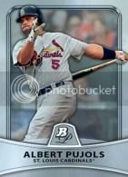 2010 Bowman Platinum Albert Pujols Base Card