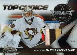 2010/11 Panini Certified Top Choice Marc-Andre Fleury