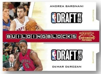 2010/11 Panini Contenders Patches Andrea Bargnani DeMar DeRozan Building Blocks Insert Card