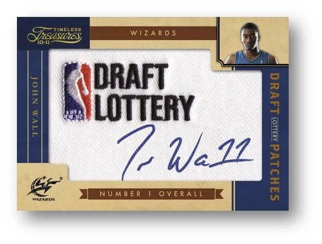 2010/11 Panini Timeless Treasures John Wall NBA Draft Lottery Autograph Patch