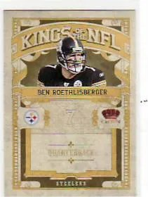 2010 Panini Crown Royale Ben Roethlisberger Kings of the NFL