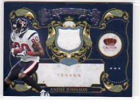 2010 Panini Crown Royale Andre Johnson Royalty Jersey
