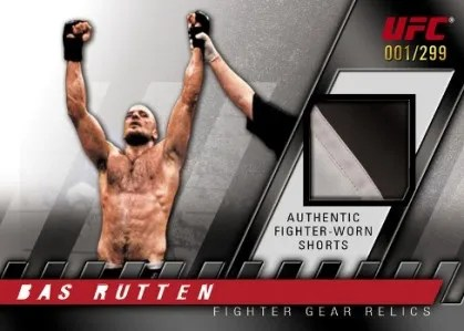 2010 Topps UFC Knockout Bas Rutten Authentic Worn Shorts Card