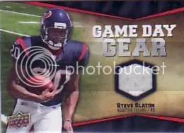 2009 UD Game Day Jersey Steve Slaton