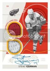 2010/11 SPx Steve Yzerman Flashback Fabric Autograph