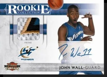 2010/11 Panini Threads Rookie Collection Materials John Wall Autograph