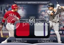 2011 Topps Hamilton/Gonzalez Dual Jersey #/50