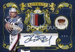 2010 Crown Royale Tom Brady Royalty Prime Jersey Auto