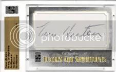 2010 Famous Fabrics Tim Horton Cut Autograph