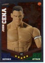 2010 Slam Attax Mayhem John Cena Matell Flex Force Card