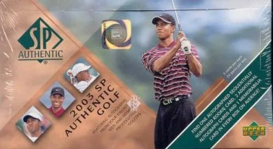 2003 Upper Deck SP Authentic Golf Hobby Box