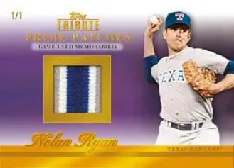2012 Topps Tribute Nolan Ryan Patch Jersey Card