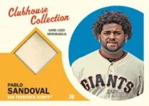 2012 Topps Heritage Pablo Sandoval Clubhouse Collection Relic