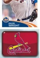 2012 Topps MLB Baseball Stickers Rangers Cardinals Logo