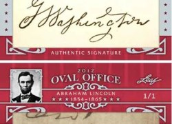 2012 Leaf Oval Office Abraham Lincoln Cut Signature
