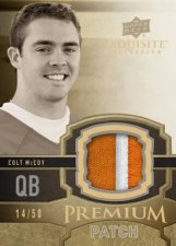 2010 UD Exquisite Colt McCoy Premium Patches