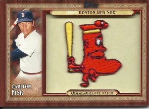 2011 Topps Update Commemorative Patch Carlton Fisk - Boston Red Sox