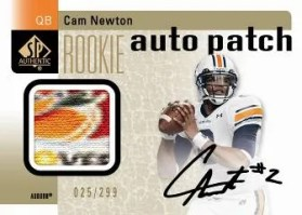 2011 Sp Authentic Cam Newton Auto Patch Rookie RC