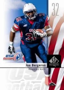 2011 UD Sp Authentic Joe Bergeron USA Football Card