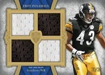 2011 Topps Supreme Troy Polamalu Quad Relic Jersey Card