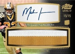 2011 Topps Prime IV Mark Ingram Patch Autograph Card #/15