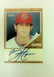 2011 Topps Heritage Minor League Bryce Harper Autograph