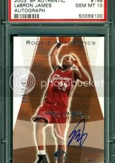 2003-04 Upper Deck SP Authentic LeBron James Autograph RC Card #/500