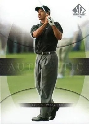 2004 Upper Deck SP Authentic Tiger Woods Golf Card #1